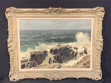 Frederick Judd Waugh. Oil/Canvas, Rocky Shoreline