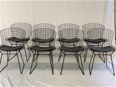 Eight Harry Bertoia/Knoll Dining Chairs