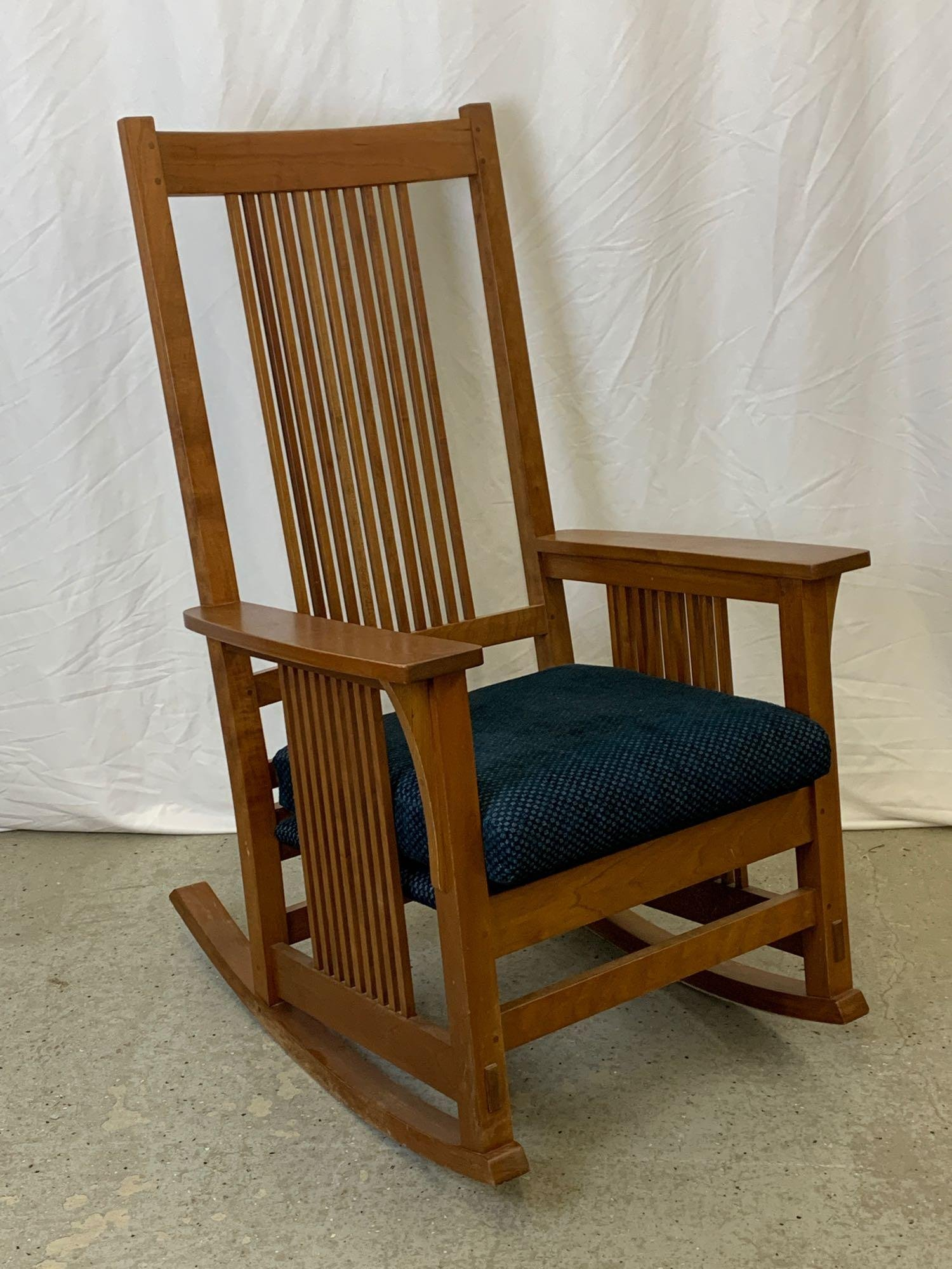 Contemporary Stickley Cherry Spindle Rocking Chair