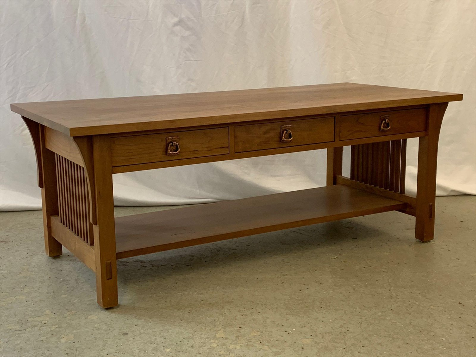 Contemporary Stickley Cherry Cocktail Table