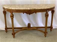 French Louis XVIstyle Marble Top Console Table
