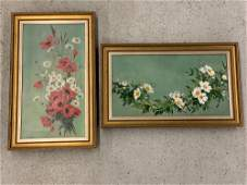 Pr. 19th C. Oils/Canvas, Floral Still Lifes
