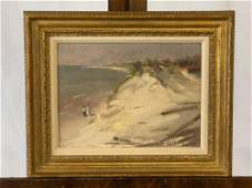 Herbert Cyrus Farnum. Oil/Canvas, Beach Scene