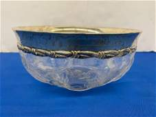 Tiffany Sterling & Crystal Bowl