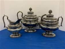 American Coin Silver Three-piece Tea Service