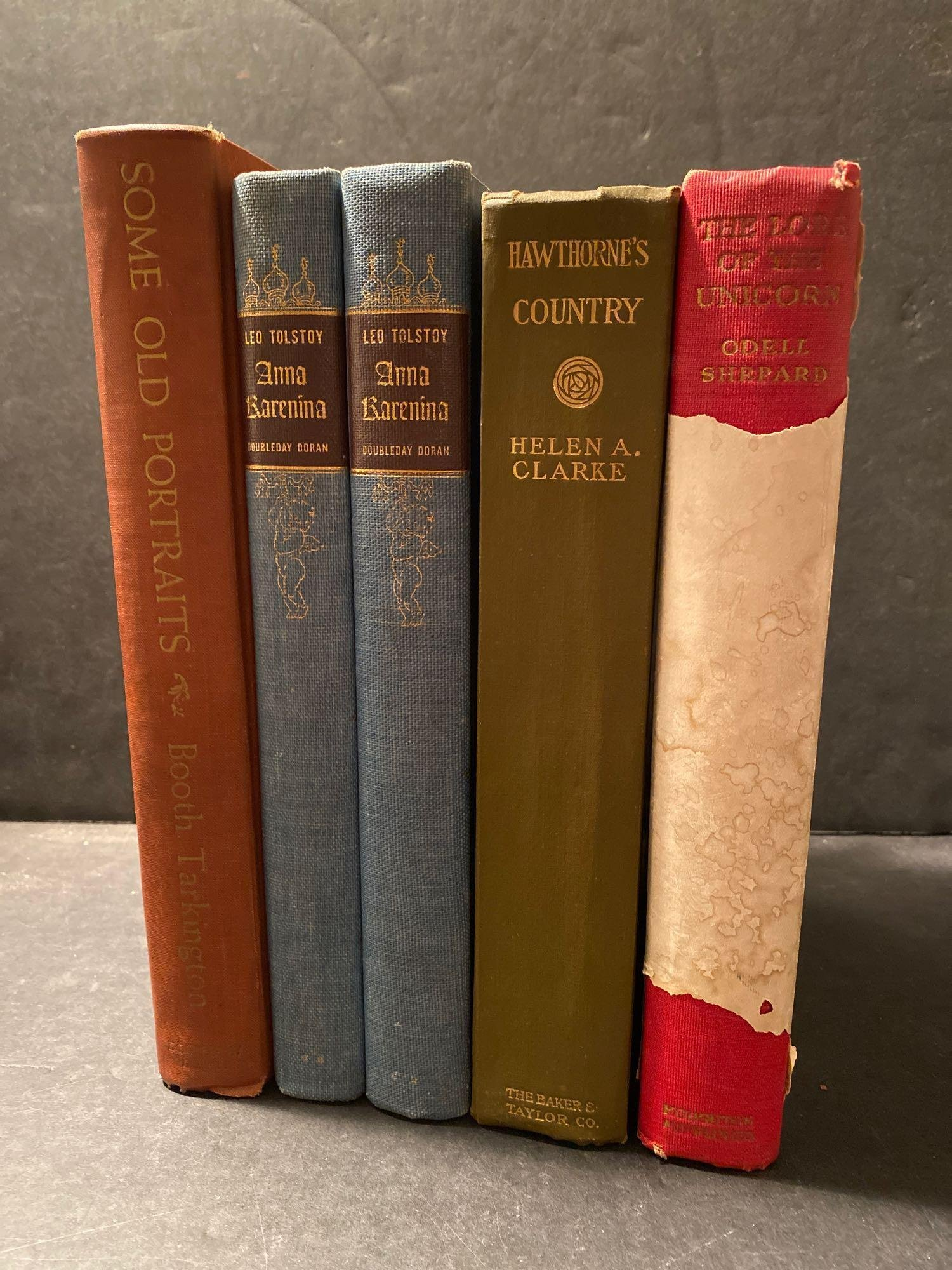 Five Books, including Tolstoy
