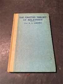 Einstein Signed Book: Theory Of Relativity