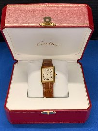 Cartier Tank 18K Yellow Gold Wristwatch