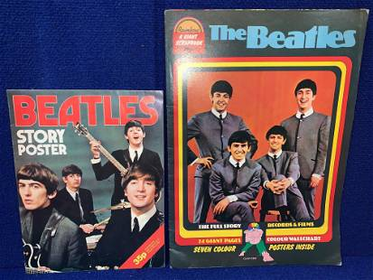 Two Beatles Poster Books 1976
