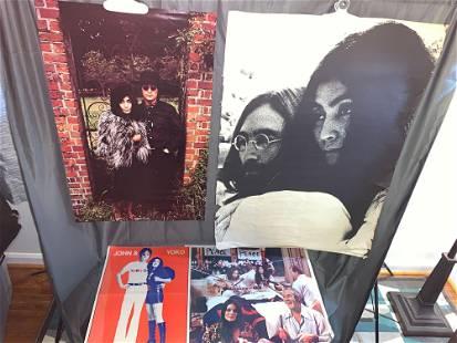 Four John Lennon Yoko Ono Posters