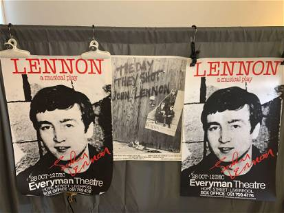 3 Posters Promoting Plays About John Lennon
