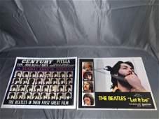 Two Original Beatles Lobby Cards