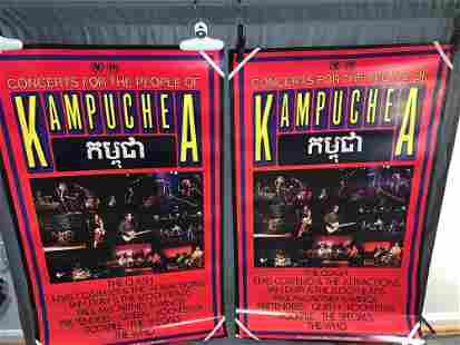 Two Concerts for Kampuchea Posters