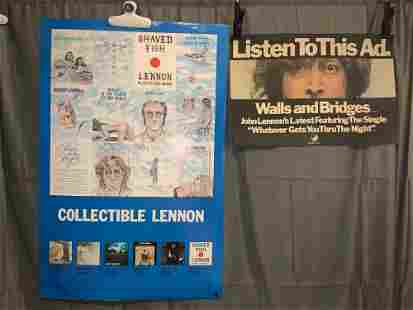 John Lennon Promotional Poster and Ad