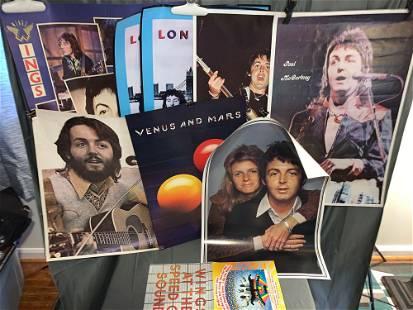 Nine Paul McCartney or Wings Posters