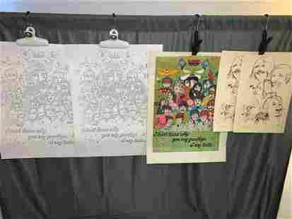 Five Beatles Posters