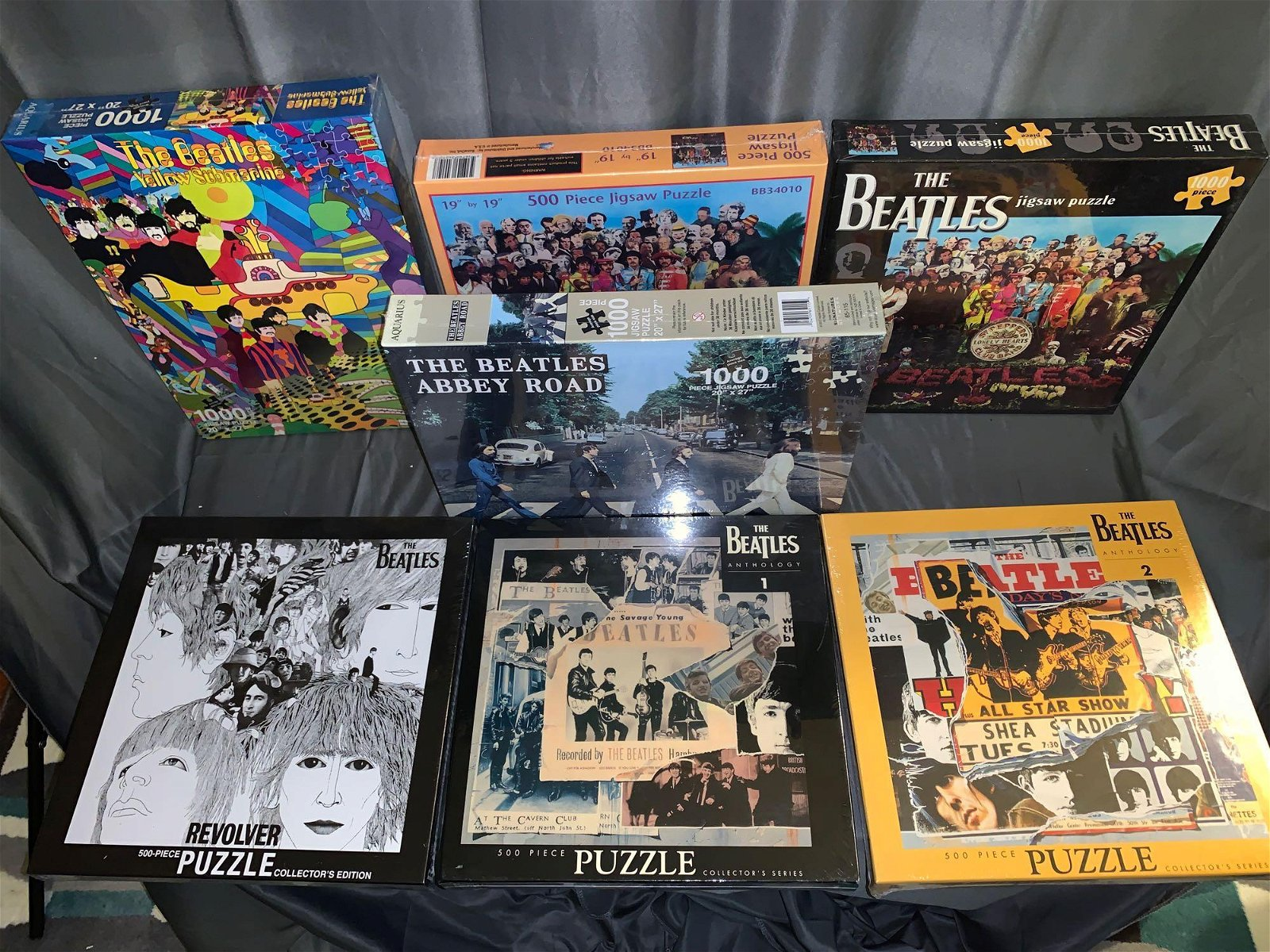 Seven Unopened Beatles Puzzles