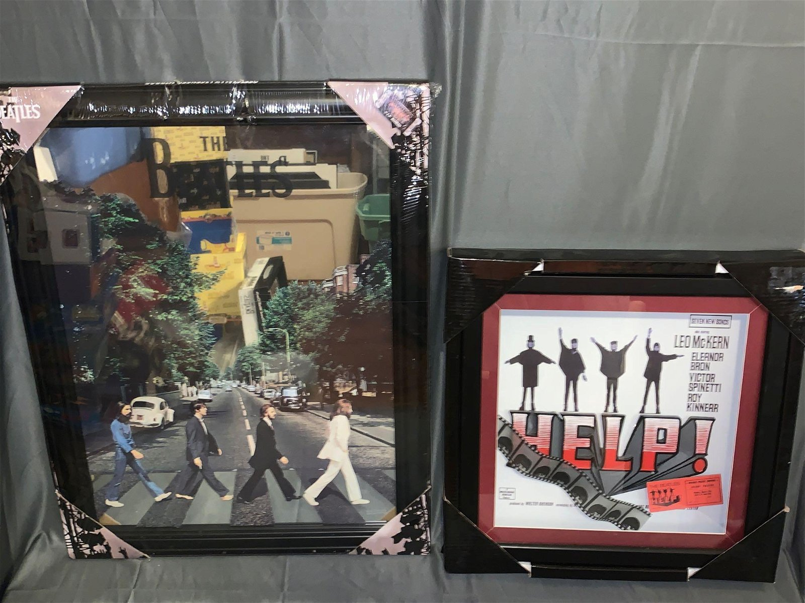 Abbey Road Mirror & Help! Shadowbox