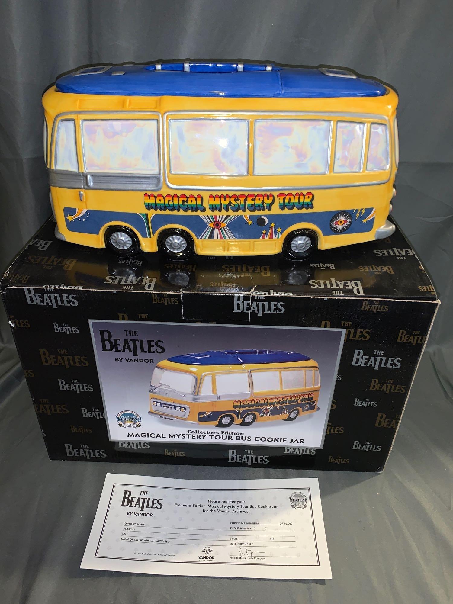 Beatles Magical Mystery Tour Cookie Jar