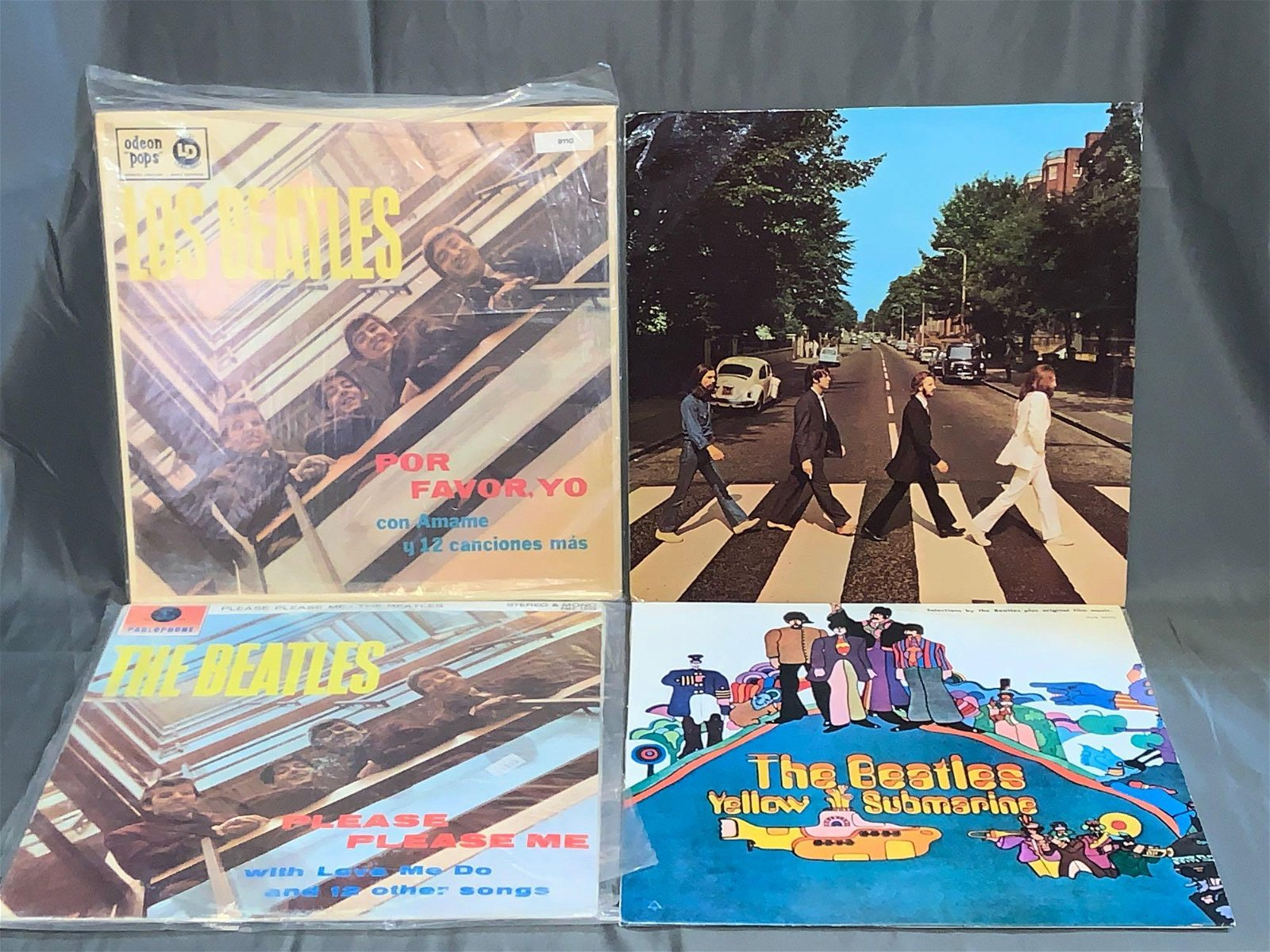 Four Beatles Non-U.S. 33rpm Records