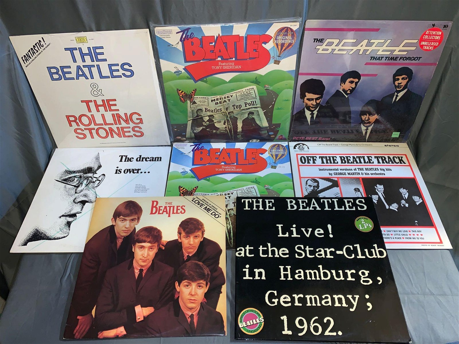 Eight Beatles-related 33rpm Records