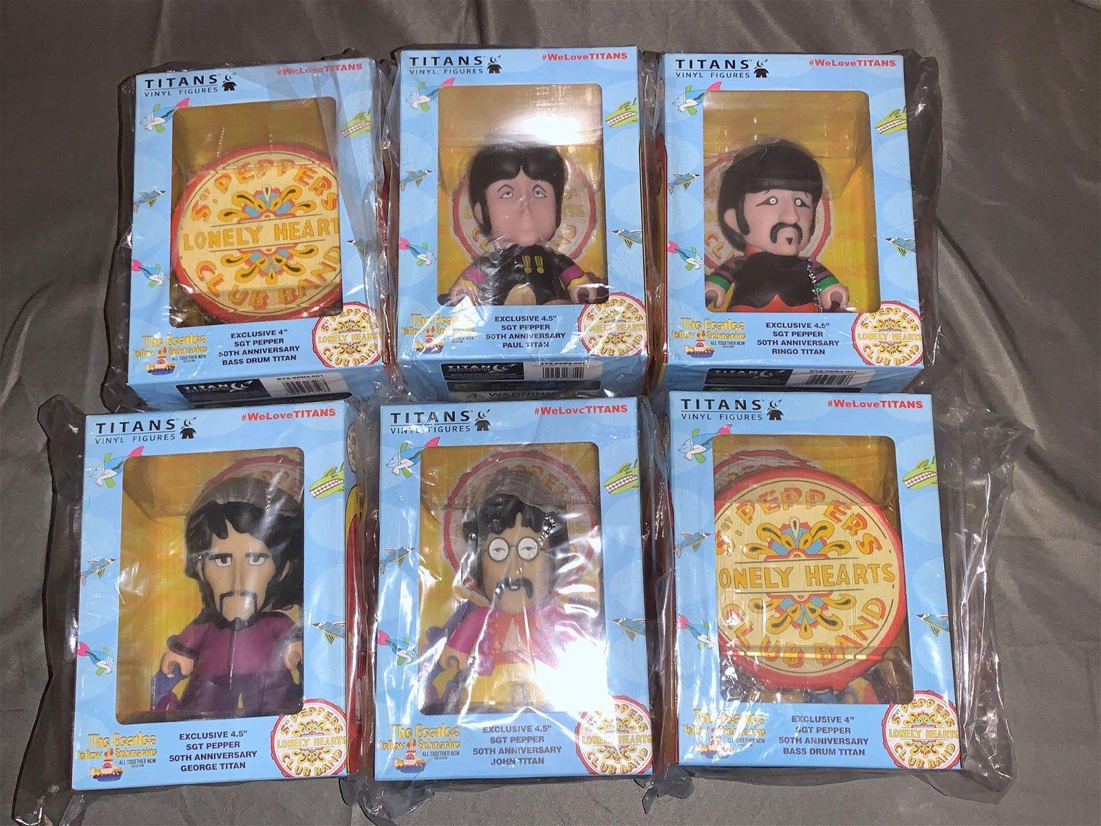 Set of Five Titans Sgt Pepper's Figures, etc.