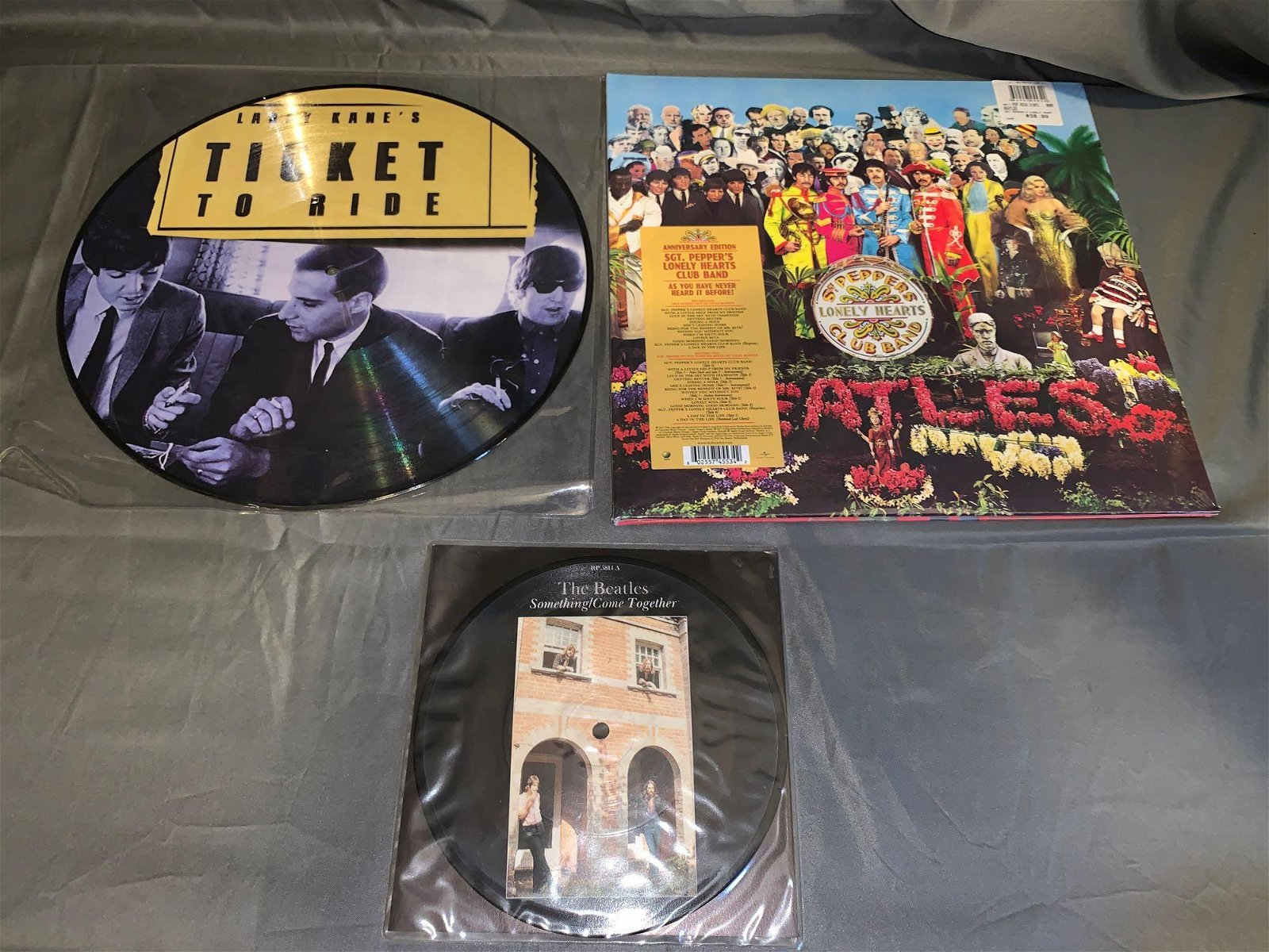 Two Picture Discs & Sealed Sgt Pepper's