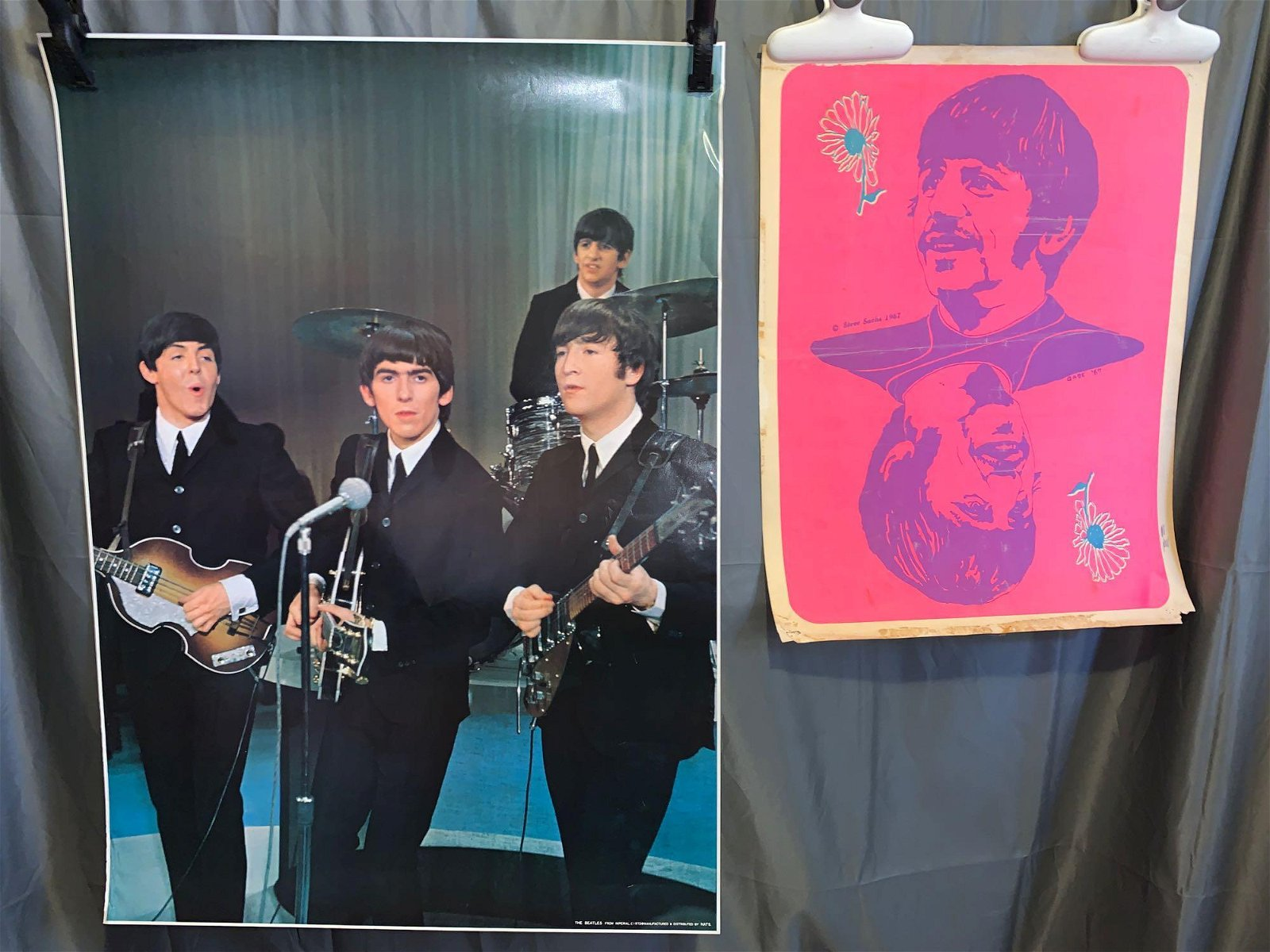 Two Posters: Beatles and Ringo Starr
