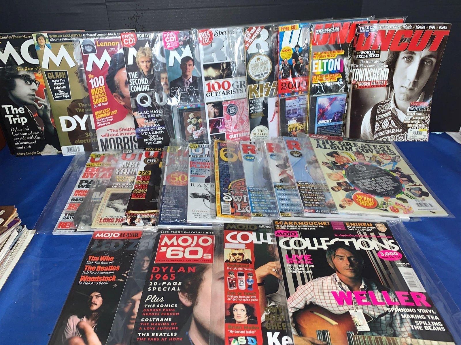 24 Non-Beatle Cover Magazines: Mojo, Uncut