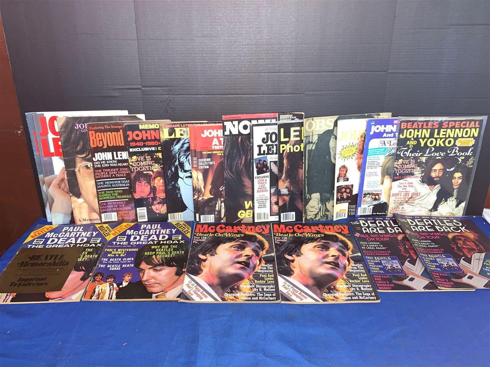 22 John Lennon Memorial/Paul McCartney Magazines
