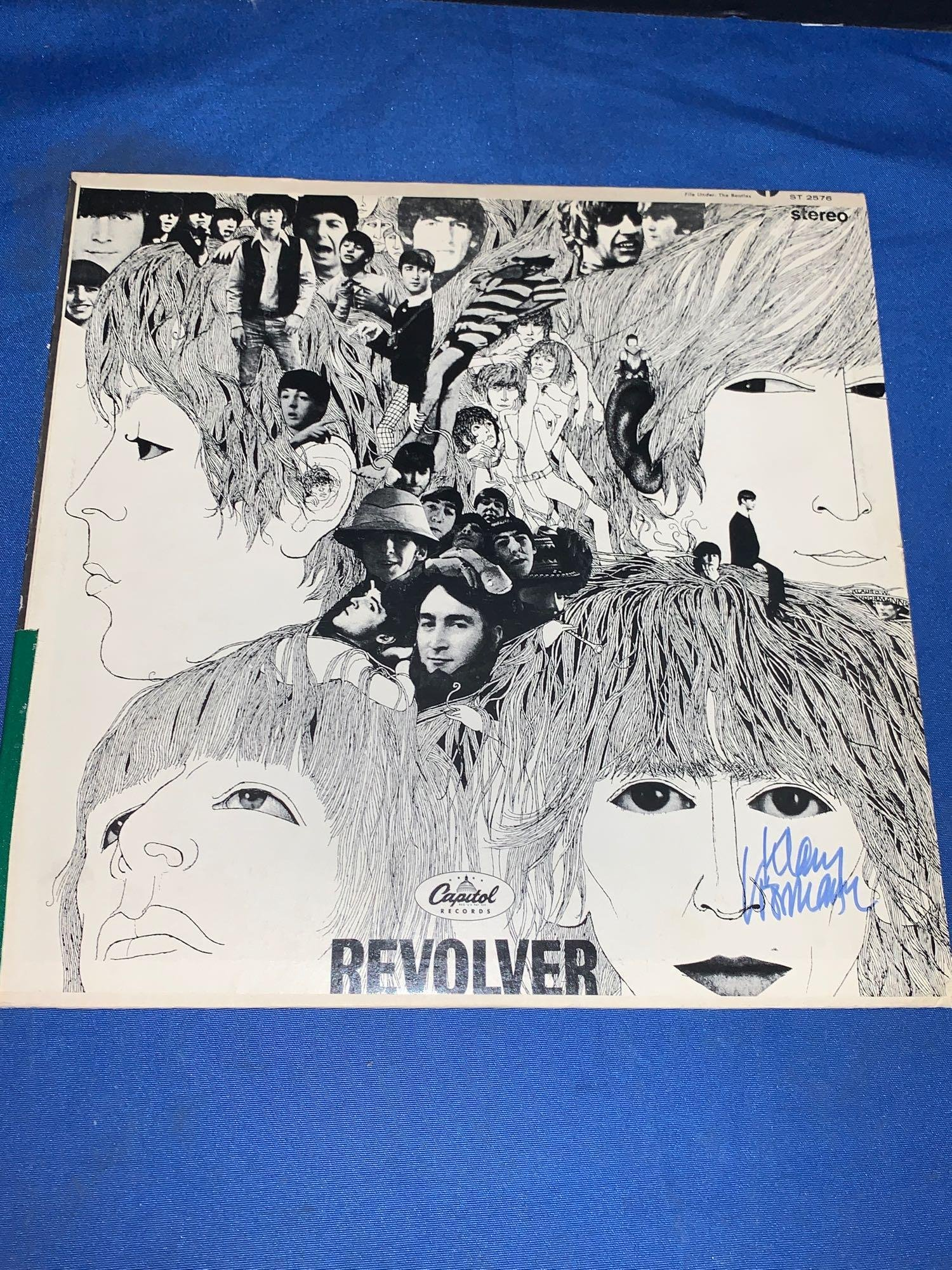 Klaus Voormann Signed Beatles Revolver Cover