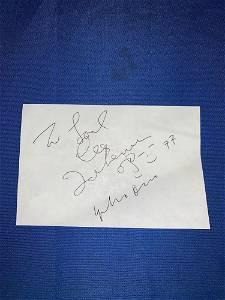 John Lennon and Yoko Ono Autograph