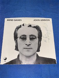 John Lennon Signed Mind Games Picture Sleeve