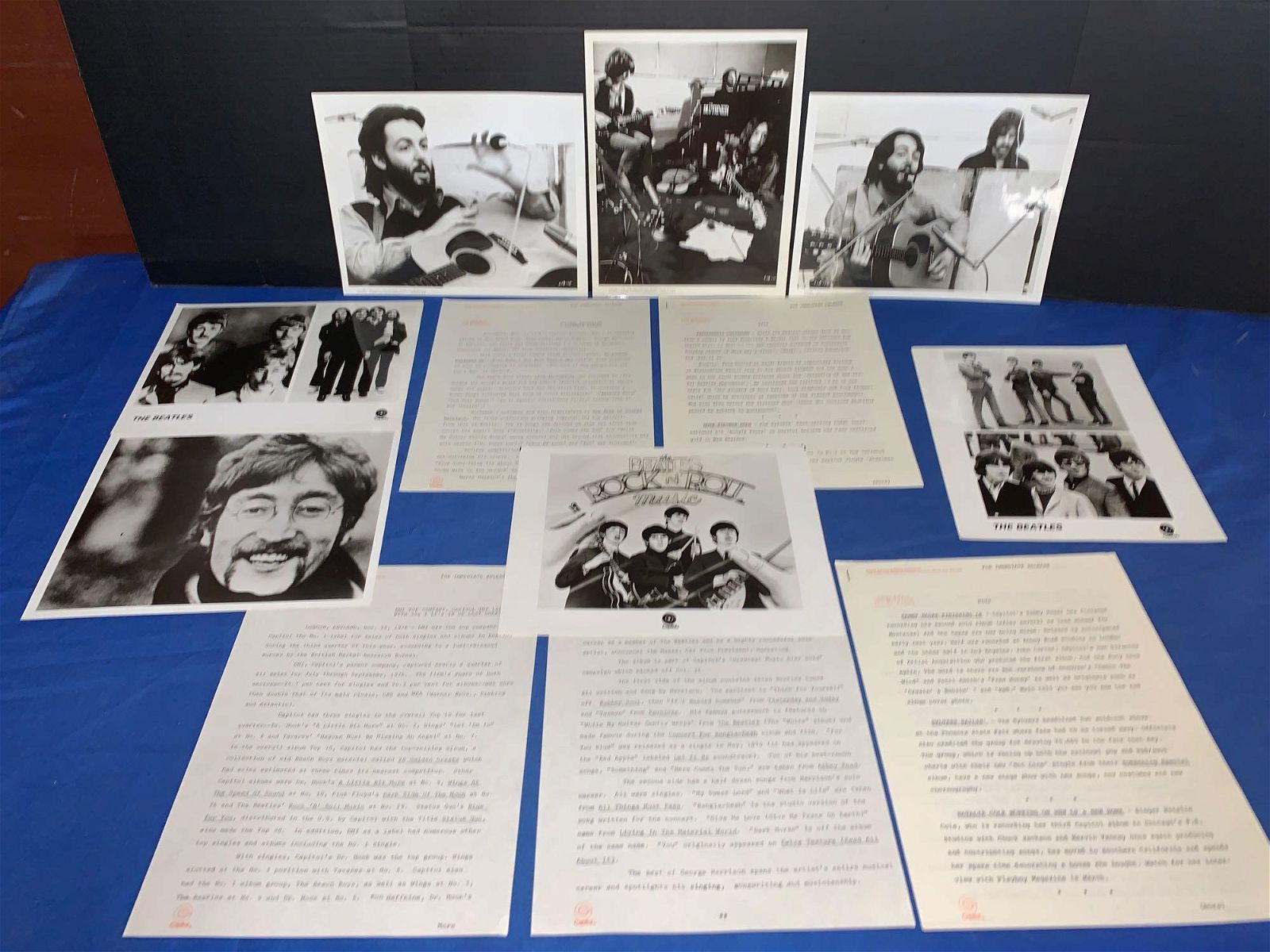 Beatles Press Photos & Capitol Press Releases