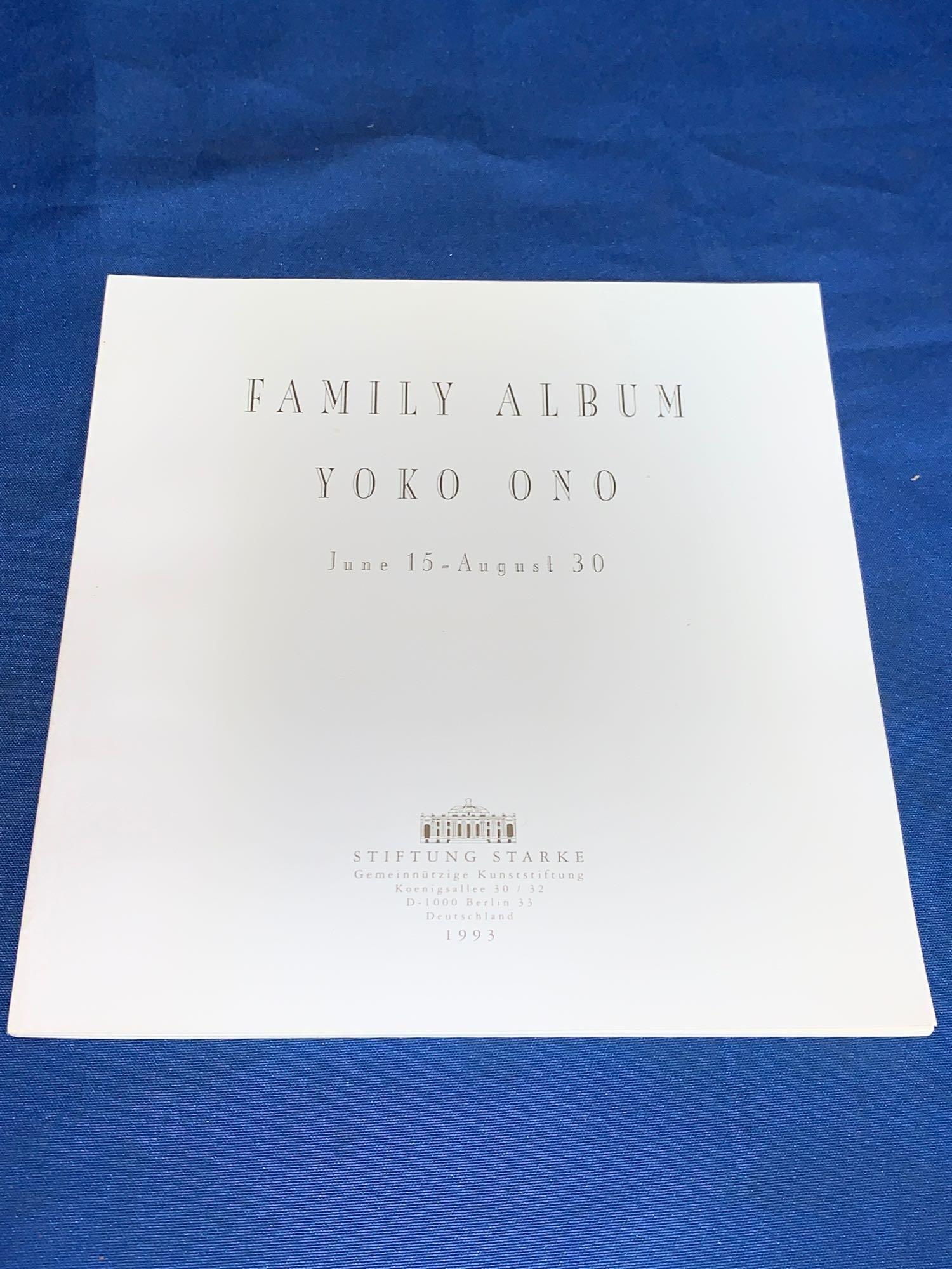 Signed Book: Family Album by Yoko Ono