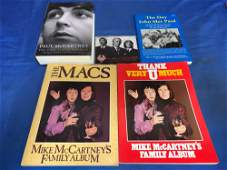 Four Beatles Books and a CD, All Signed