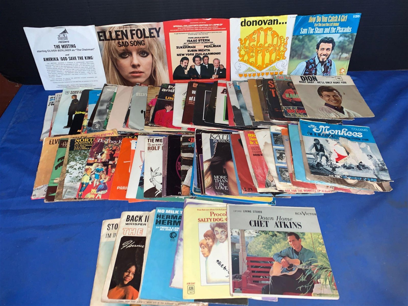 80+ Rock & Pop 45s with Picture Sleeves