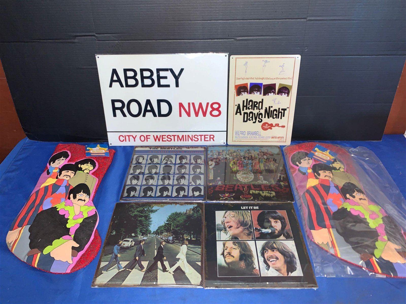 Beatles Grouping: Signs & Stockings