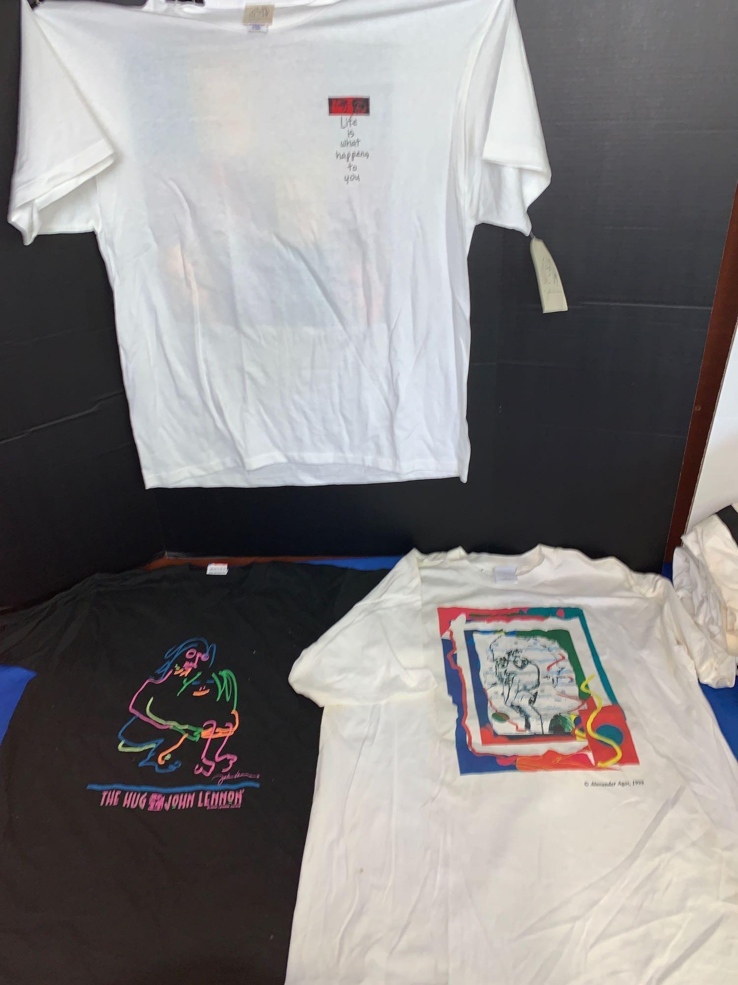 Three John Lennon T-shirts