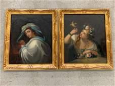 Pr. French School Oils on Canvas, Portraits