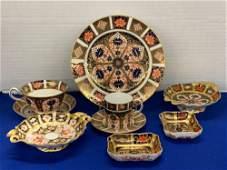 Nine Pieces of Royal Crown Derby Porcelain