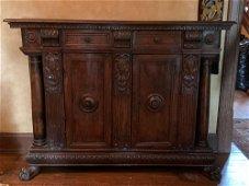 Italian Renaissance Side Cabinet