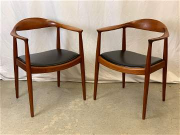 Pair of Hans Wegner/Johannes Hansen The Chairs