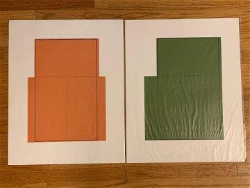 Robert Mangold. Two Silkscreen Prints