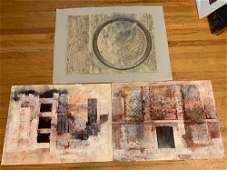 Three Original Abstract Works