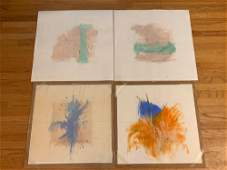 Linda Graves. Four Original Abstract Works