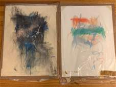 Linda Graves. Three Abstract Works