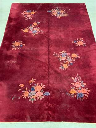 Chinese Deco Rm-size Carpet, 13ft 11in x 9ft 9in