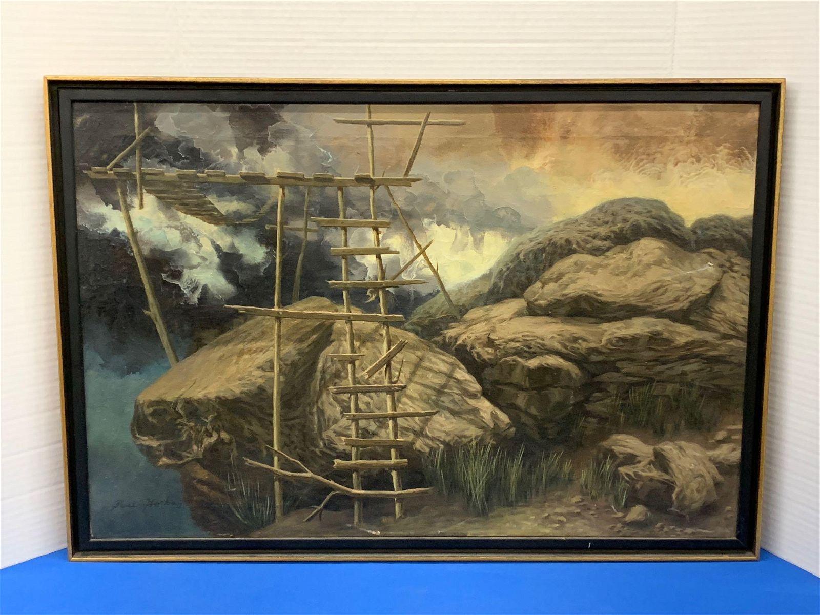 Paul Gorka. Oil on Canvas, The Ladder