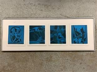 Francoise Gilot. Framed Polyptych Lithograph